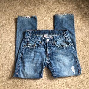 True Religion Logan Jeans Distressed